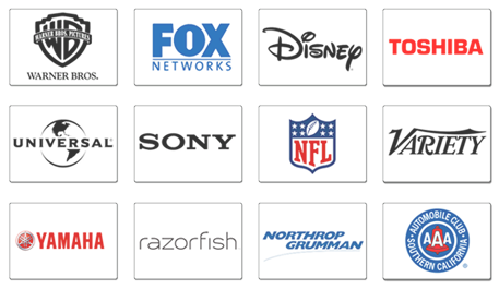 Onsite Corporate Training Clients: Sony, Fox, Universal, Disney, Warner Bros., Toshiba